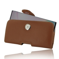 Leather Horizontal Pouch Case with Belt Clip for Samsung Galaxy Note 10 Plus | Samsung Galaxy Note 10+ (Brown)