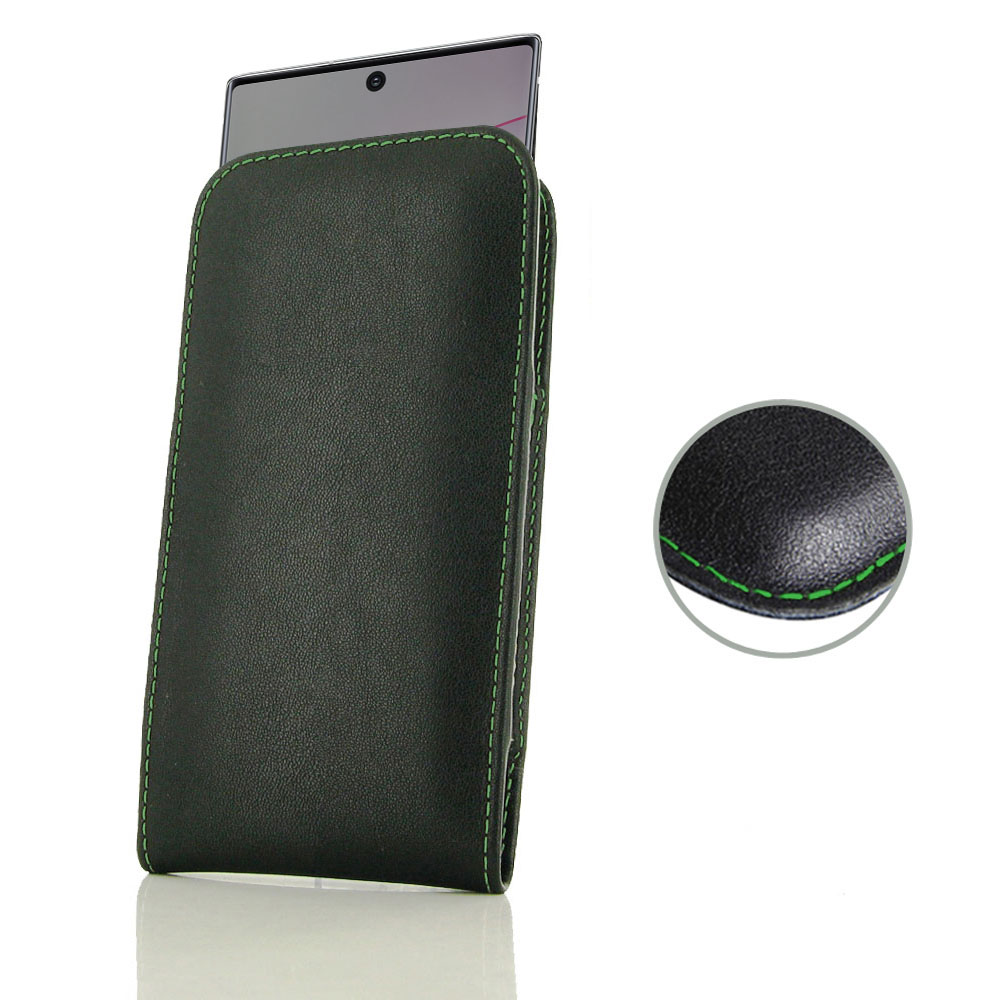10% OFF + FREE SHIPPING, Buy the BEST PDair Handcrafted Premium Protective Carrying Samsung Galaxy Note 10 Plus Leather Sleeve Pouch Case (Green Stitch). Exquisitely designed engineered for Samsung Galaxy Note 10 Plus.