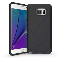 Hybrid Combo Aegis Armor Case Cover for Samsung Galaxy Note 5 | Samsung Galaxy Note5 (Black)