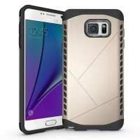 Hybrid Combo Aegis Armor Case Cover for Samsung Galaxy Note 5 | Samsung Galaxy Note5 (Gold)