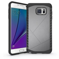 Hybrid Combo Aegis Armor Case Cover for Samsung Galaxy Note 5 | Samsung Galaxy Note5 (Grey)