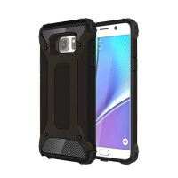 Hybrid Dual Layer Tough Armor Protective Case for Samsung Galaxy Note 5 | Samsung Galaxy Note5 (Black)