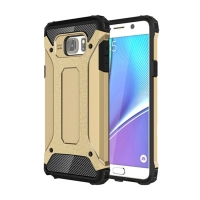 Hybrid Dual Layer Tough Armor Protective Case for Samsung Galaxy Note 5 | Samsung Galaxy Note5 (Gold)
