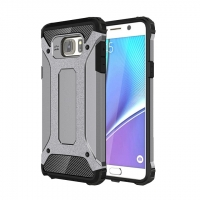 Hybrid Dual Layer Tough Armor Protective Case for Samsung Galaxy Note 5 | Samsung Galaxy Note5 (Grey)