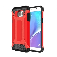 Hybrid Dual Layer Tough Armor Protective Case for Samsung Galaxy Note 5 | Samsung Galaxy Note5 (Red)
