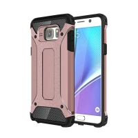 Hybrid Dual Layer Tough Armor Protective Case for Samsung Galaxy Note 5 | Samsung Galaxy Note5 (Rose Gold)
