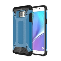 Hybrid Dual Layer Tough Armor Protective Case for Samsung Galaxy Note 5 | Samsung Galaxy Note5 (Skyblue)