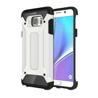 Hybrid Dual Layer Tough Armor Protective Case for Samsung Galaxy Note 5 | Samsung Galaxy Note5 (White)