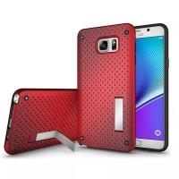 Hybrid Shockproof Bumper with Stand for Samsung Galaxy Note 5 | Samsung Galaxy Note5 (Red)