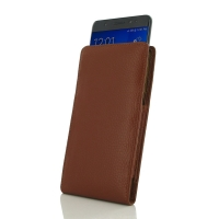 Samsung Galaxy Note 7 Leather Sleeve Pouch Case (Brown Pebble Leather) PDair Premium Hadmade Genuine Leather Protective Case Sleeve Wallet
