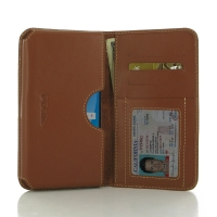 Samsung Galaxy Note 7 Leather Wallet Sleeve Case (Brown) PDair Premium Hadmade Genuine Leather Protective Case Sleeve Wallet