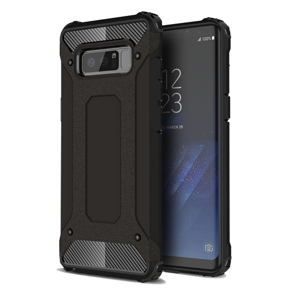 Hybrid Dual Layer Tough Armor Protective Case for Samsung Galaxy Note8 | Samsung Galaxy Note 8 | Samsung AFRICA_EN (Black)
