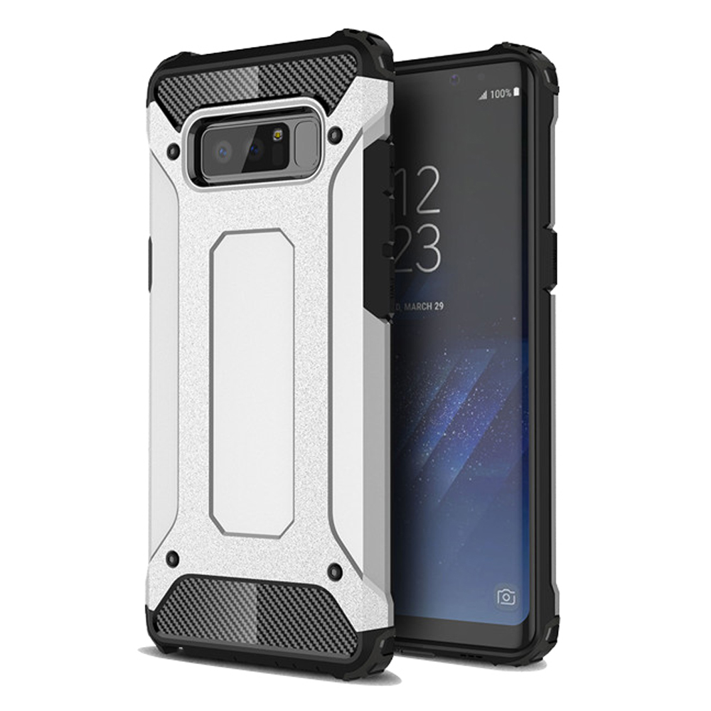Hybrid Dual Layer Tough Armor Protective Case for Samsung Galaxy Note8 | Samsung Galaxy Note 8 | Samsung AFRICA_EN (Silver)