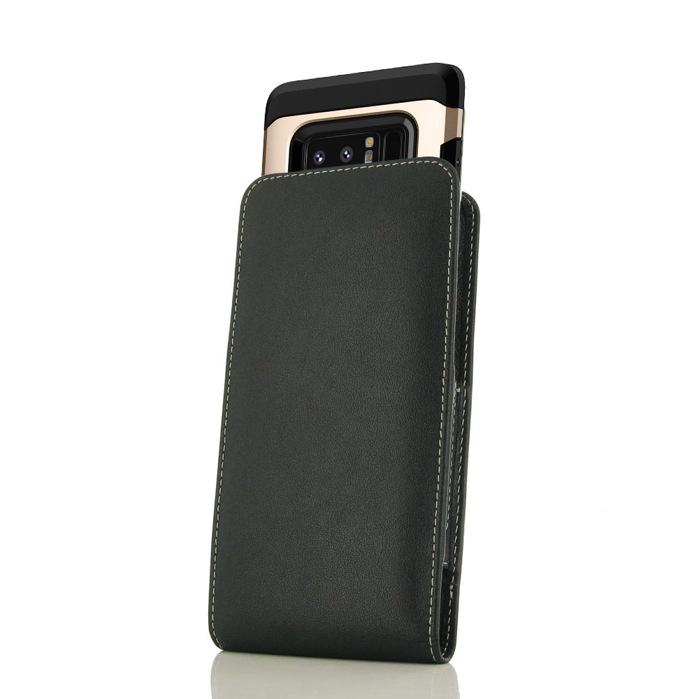 Leather Vertical Pouch Case for Samsung Galaxy Note 8 (in Large Size Armor Protective Case Cover)