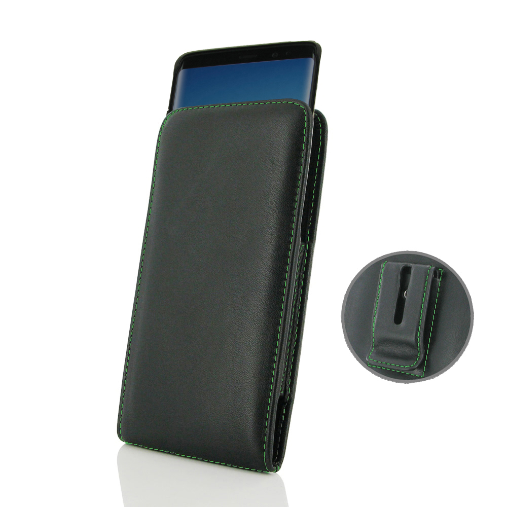 10% OFF + FREE SHIPPING, Buy the BEST PDair Handcrafted Premium Protective Carrying Samsung Galaxy Note 8 (in Slim Cover) Pouch Clip Case (Green Stitch). Exquisitely designed engineered for Samsung Galaxy Note 8.