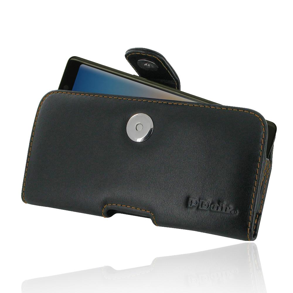 Leather Horizontal Pouch Case with Belt Clip for Samsung Galaxy Note8 | Samsung Galaxy Note 8 | Samsung AFRICA_EN (Orange Stitch)