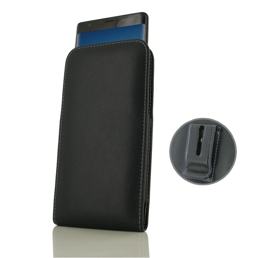 Leather Vertical Pouch Belt Clip Case for Samsung Galaxy Note8 | Samsung Galaxy Note 8 | Samsung AFRICA_EN (Purple Stitch)