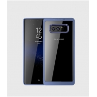 Ultra Slim Shockproof Bumper Cover with Crystal Clear Back Protective Case for Samsung Galaxy Note8 | Samsung Galaxy Note 8 | Samsung AFRICA_EN (Blue)