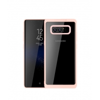 Ultra Slim Shockproof Bumper Cover with Crystal Clear Back Protective Case for Samsung Galaxy Note8 | Samsung Galaxy Note 8 | Samsung AFRICA_EN (Pink)