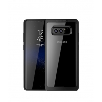 Ultra Slim Shockproof Bumper Cover with Crystal Clear Back Protective Case for Samsung Galaxy Note8 | Samsung Galaxy Note 8 | Samsung AFRICA_EN(Black)