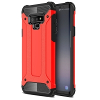 Hybrid Dual Layer Tough Armor Protective Case for Samsung Galaxy Note9 | Samsung Galaxy Note 9 (Red)