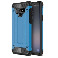 Hybrid Dual Layer Tough Armor Protective Case for Samsung Galaxy Note9 | Samsung Galaxy Note 9 (Skyblue)