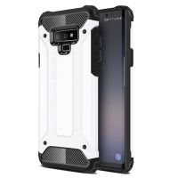Hybrid Dual Layer Tough Armor Protective Case for Samsung Galaxy Note9 | Samsung Galaxy Note 9 (White)