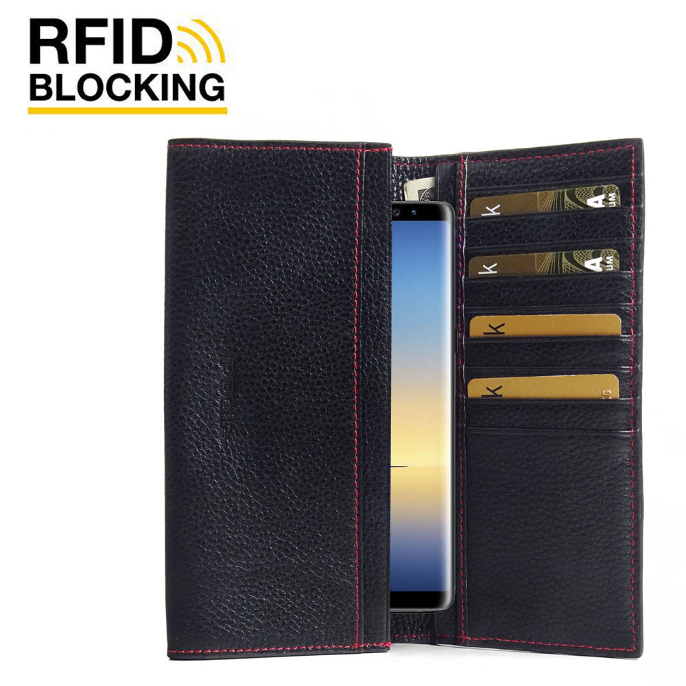 10% OFF + FREE SHIPPING, Buy the BEST PDair Handcrafted Premium Protective Carrying Samsung Galaxy Note 9 Leather Continental Sleeve Wallet (Red Stitching). Exquisitely designed engineered for Samsung Galaxy Note 9.