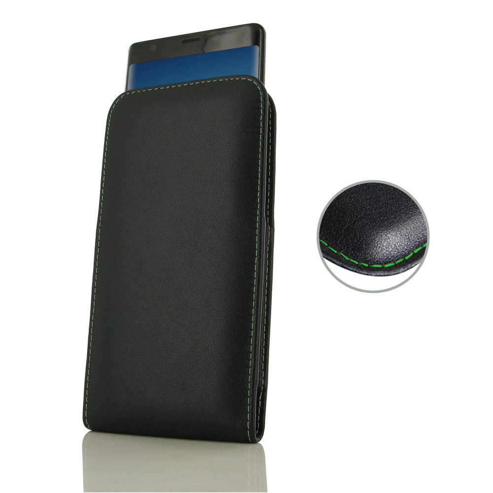10% OFF + FREE SHIPPING, Buy the BEST PDair Handcrafted Premium Protective Carrying Samsung Galaxy Note 9 Leather Sleeve Pouch Case (Green Stitch). Exquisitely designed engineered for Samsung Galaxy Note 9.