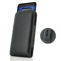 Leather Vertical Pouch Belt Clip Case for Samsung Galaxy Note9 | Samsung Galaxy Note 9 (in Large Size Armor Protective Case Cover)