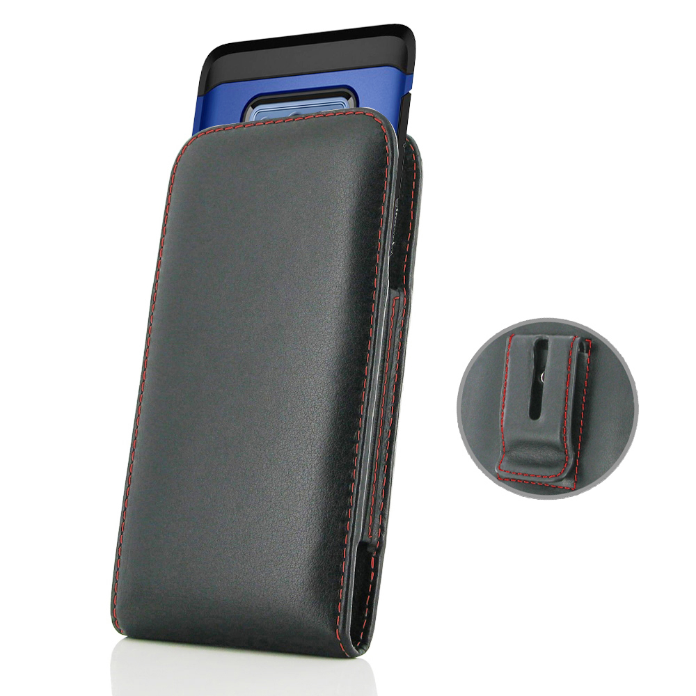 10% OFF + FREE SHIPPING, Buy the BEST PDair Handcrafted Premium Protective Carrying Samsung Galaxy Note 9 (in Large Size Cover) Pouch Clip Case (Red Stitch). Exquisitely designed engineered for Samsung Galaxy Note 9.