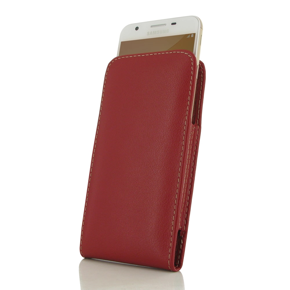 10% OFF + FREE SHIPPING, Buy Best PDair Quality Handmade Protective Samsung Galaxy On5 2016 Genuine Leather Sleeve Pouch Case (Red) online. You also can go to the customizer to create your own stylish leather case if looking for additional colors, pattern
