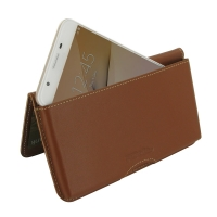 Leather Wallet Pouch for Samsung Galaxy On5 (2016) (Brown)