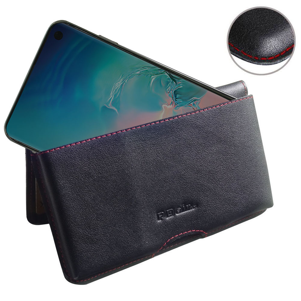 10% OFF + FREE SHIPPING, Buy the BEST PDair Handcrafted Premium Protective Carrying Samsung Galaxy S10 Leather Wallet Pouch Case (Red Stitch). Exquisitely designed engineered for Samsung Galaxy S10.