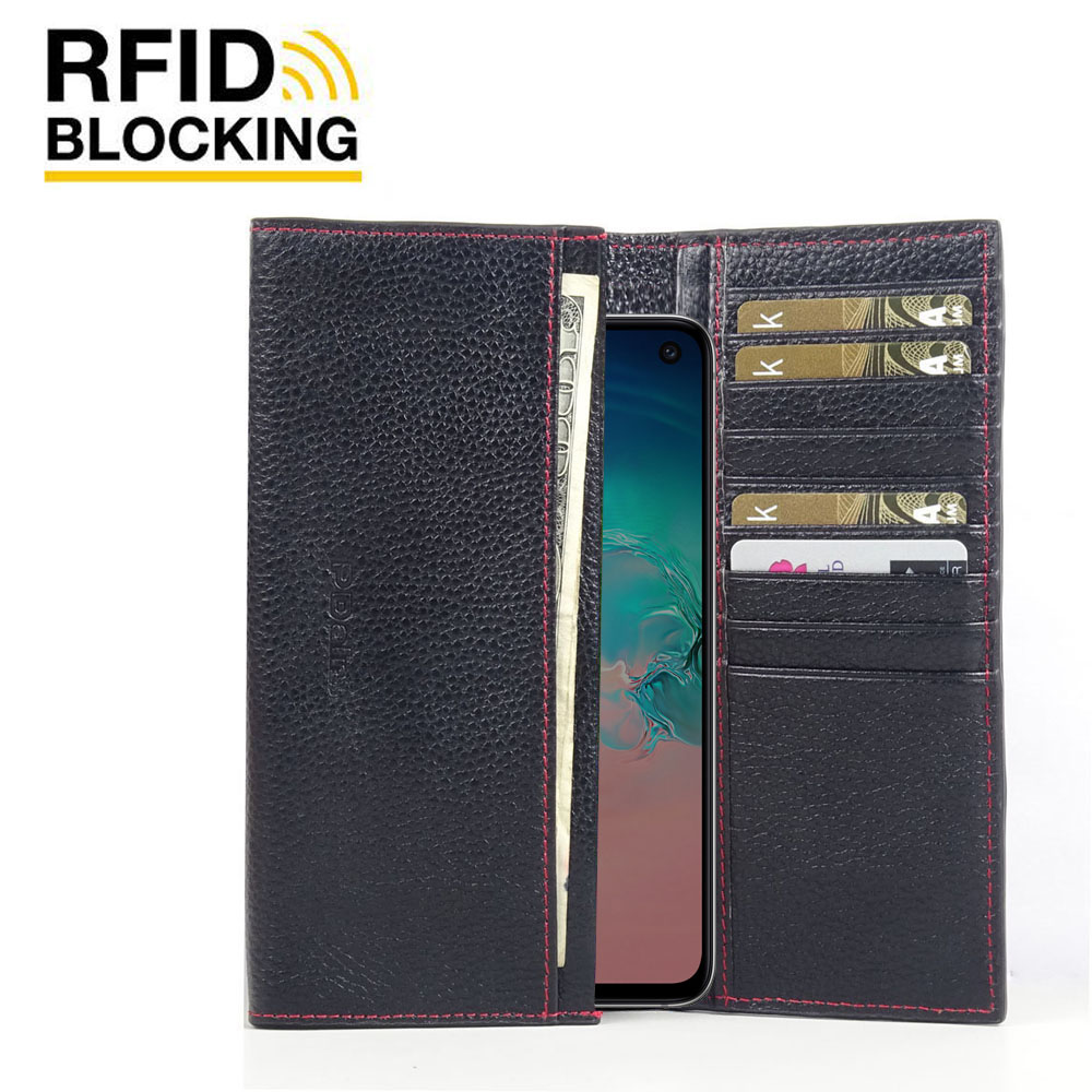 10% OFF + FREE SHIPPING, Buy the BEST PDair Handcrafted Premium Protective Carrying Samsung Galaxy S10 Leather Continental Sleeve Wallet (Red Stitching). Exquisitely designed engineered for Samsung Galaxy S10.