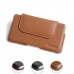 Luxury Leather Holster Pouch Case for Samsung Galaxy S10 (Brown)