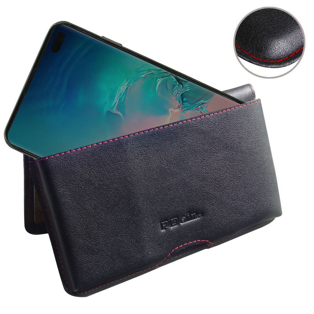 10% OFF + FREE SHIPPING, Buy the BEST PDair Handcrafted Premium Protective Carrying Samsung Galaxy S10 Plus Leather Wallet Pouch Case (Red Stitch). Exquisitely designed engineered for Samsung Galaxy S10 Plus.