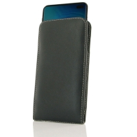 Leather Vertical Pouch Case for Samsung Galaxy S10 Plus | S10+ ( Compatible with 1.0 mm Slim Case / Cover on )
