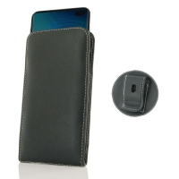 Leather Vertical Pouch Belt Clip Case for Samsung Galaxy S10 Plus | S10+ ( Compatible with 1.0 mm Slim Case / Cover on )