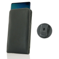 Leather Vertical Pouch Belt Clip Case for Samsung Galaxy S10 Plus | S10+