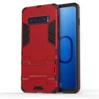 Samsung Galaxy S10 Plus Tough Armor Protective Case (Red)
