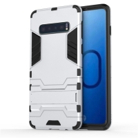 Samsung Galaxy S10 Plus Tough Armor Protective Case (Silver)