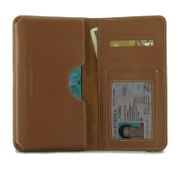 Leather Card Wallet  for Samsung Galaxy S10e ( Compatible with 1.0 mm Slim Case / Cover on ) (Brown)