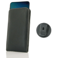 Leather Vertical Pouch Belt Clip Case for Samsung Galaxy S10e (in Slim Case/Cover)