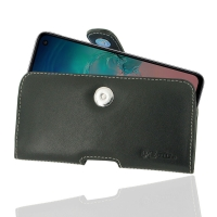 Leather Horizontal Pouch Case with Belt Clip for Samsung Galaxy S10e