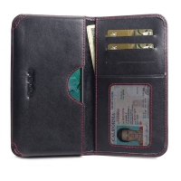 Leather Card Wallet for Samsung Galaxy S10 Lite | Samsung Galaxy S10e (Red Stitch)