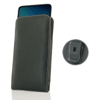 Leather Vertical Pouch Belt Clip Case for Samsung Galaxy S10e