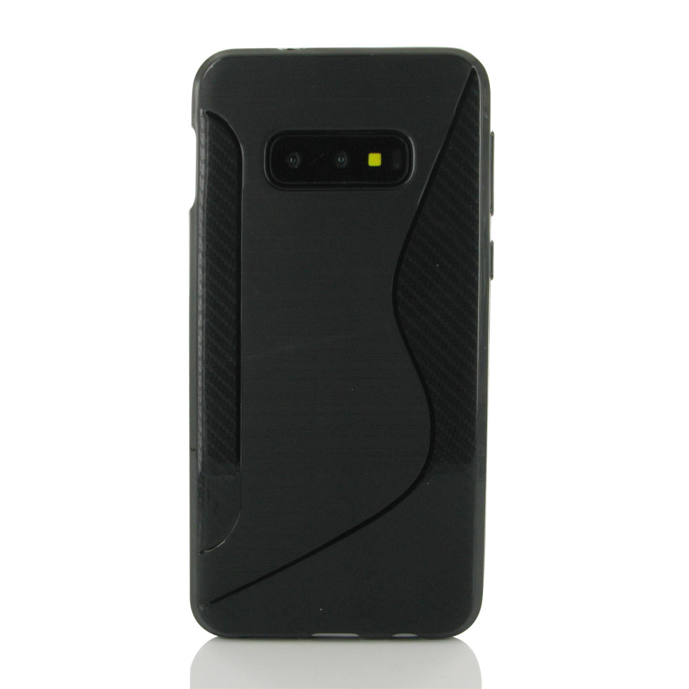 10% OFF + FREE SHIPPING, Buy the BEST PDair Premium Protective Carrying Samsung Galaxy S10e Soft Case (Black S Shape pattern). Exquisitely designed engineered for Samsung Galaxy S10e.