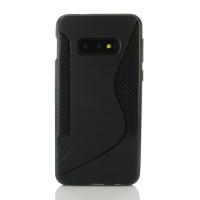 Soft Plastic Case for Samsung Galaxy S10e (Black S Shape pattern)
