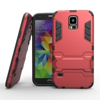 Samsung Galaxy S5 SM-G900 Tough Armor Protective Case (Red)